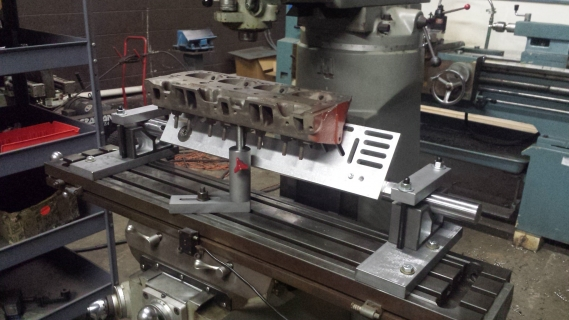 Bridgeport Mill For Sale >> Cylinder Head holding and leveling fixture – Rick Morris Equipment