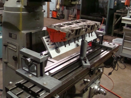 Cnc Machine For Sale >> Cylinder Head holding and leveling fixture – Rick Morris Equipment